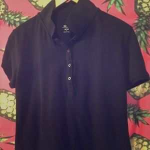 Old Navy MediumBlack Collared Shirt Polo